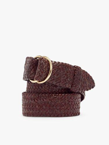 Plaited 'O' Ring Belt