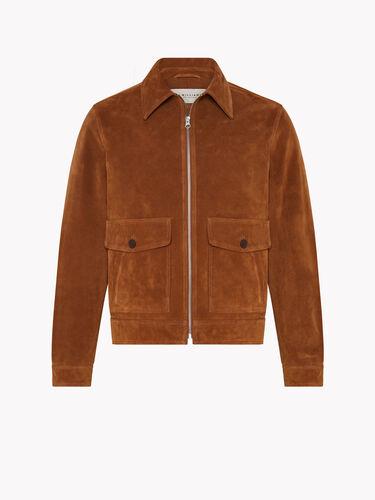 Blouson Zip Suede Jacket