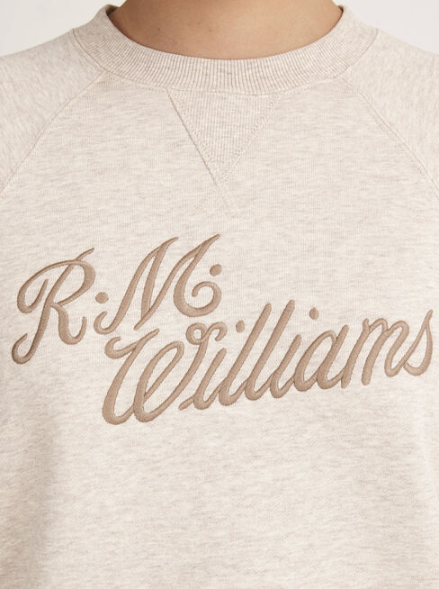 R.M.W Script Crew Neck Sweater