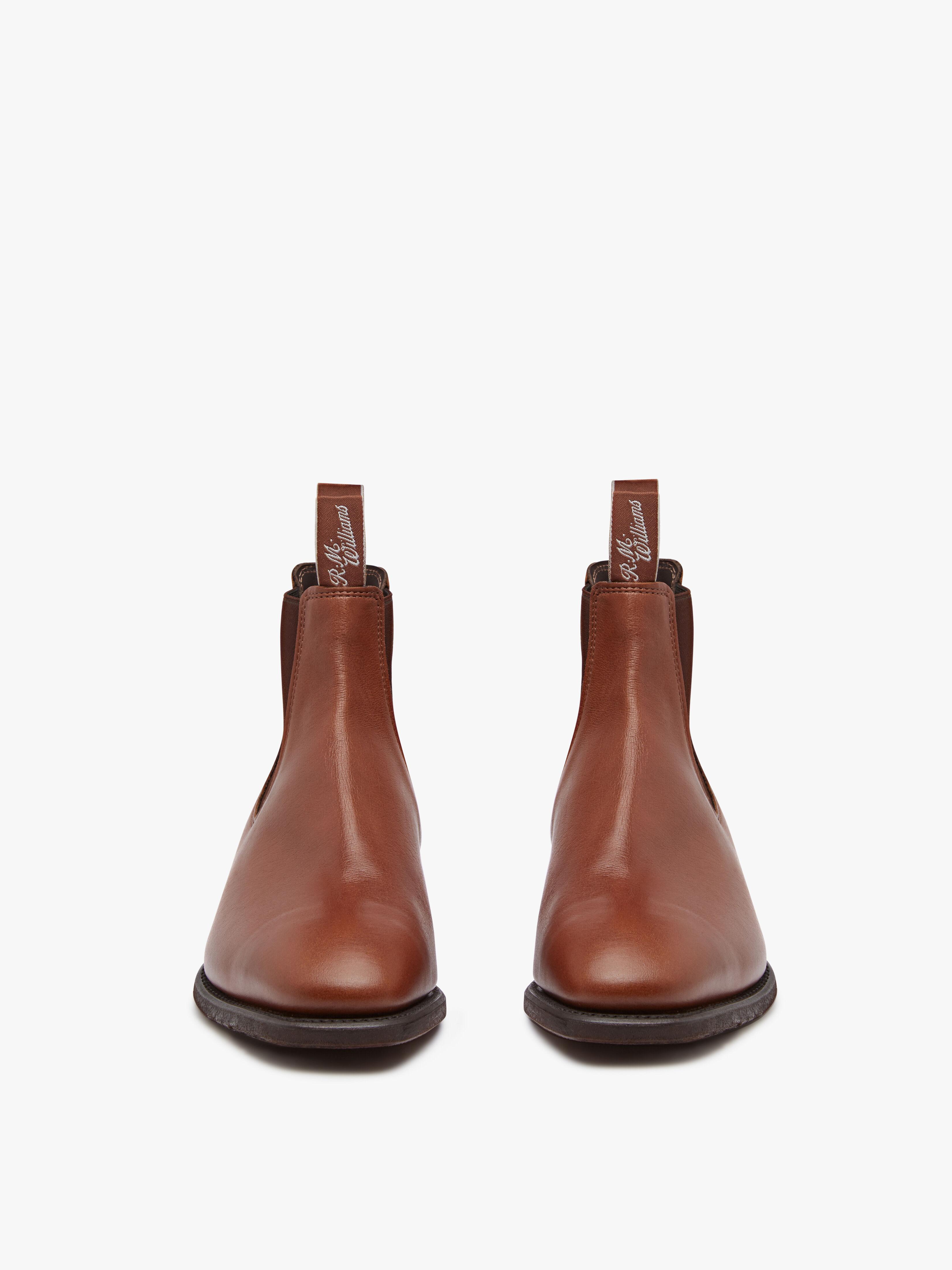 R.M.Williams Comfort Craftsman Kangaroo Tan Bark G Fitting