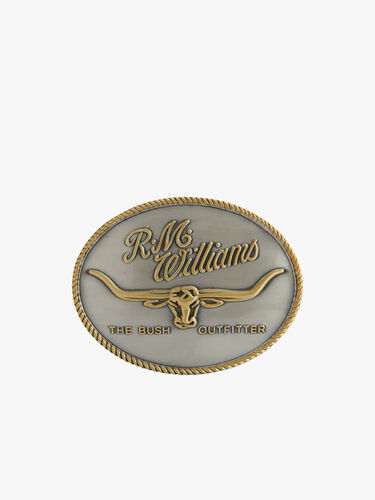 R.M.Williams Logo Buckle