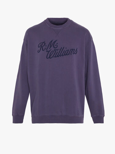 RM Williams Men R.M.W Script Crew Neck Jumper
