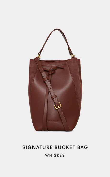 Signature Bag Collection whiskey bucket bag