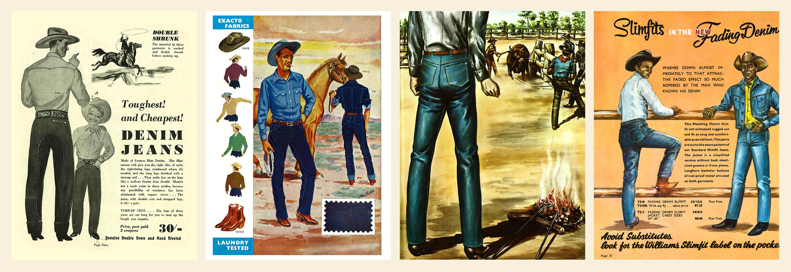 step back in time and see R.M.Williams denim evolve