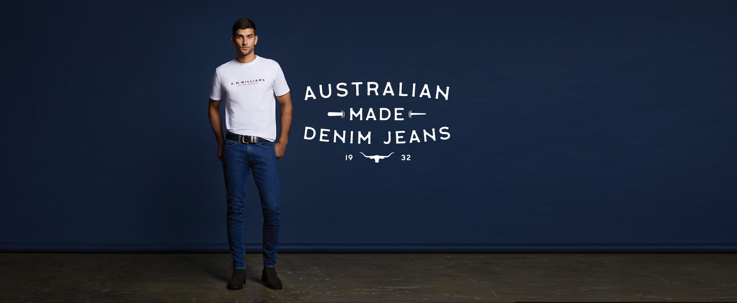 New fits men's denim