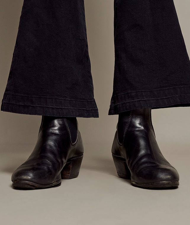 Adam's wearing his R.M.Williams Made To Order Turnout with cuban heel boots